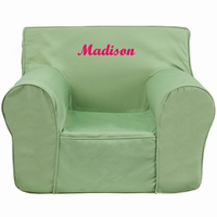 Flash Furniture Personalized Oversized Solid Green Kids Chair