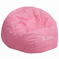 Flash Furniture Personalized Oversized Solid Light Pink Bean Bag Chair