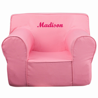 Flash Furniture Personalized Oversized Solid Light Pink Kids Chair