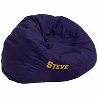 Flash Furniture Personalized Oversized Solid Navy Blue Bean Bag Chair