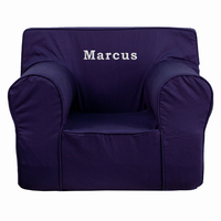 Flash Furniture Personalized Oversized Solid Navy Blue Kids Chair
