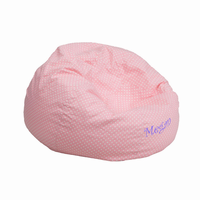 Flash Furniture Personalized Small Light Pink Dot Kids Bean Bag Chair