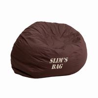 Flash Furniture Personalized Small Solid Brown Kids Bean Bag Chair