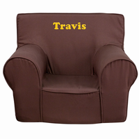 Flash Furniture Personalized Small Solid Brown Kids Chair