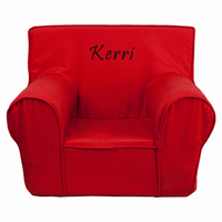 Flash Furniture Personalized Small Solid Red Kids Chair