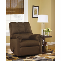 Flash Furniture Signature Design by Ashley Darcy Rocker Recliner in Cafe Fabric