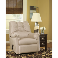 Flash Furniture Signature Design by Ashley Darcy Rocker Recliner in Stone Fabric