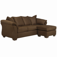 Flash Furniture Signature Design by Ashley Darcy Sofa Chaise in Cafe Microfiber