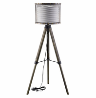 Fortune Floor Lamp, Antique Silver [FREE SHIPPING]