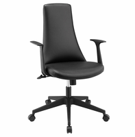 Fount Mid Back Vinyl Office Chair, Black [FREE SHIPPING]