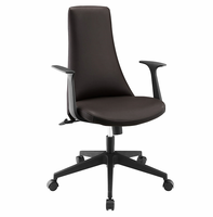 Fount Mid Back Vinyl Office Chair, Brown [FREE SHIPPING]