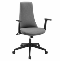 Fount Mid Back Vinyl Office Chair, Gray [FREE SHIPPING]