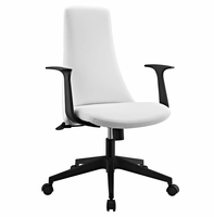 Fount Mid Back Vinyl Office Chair, White [FREE SHIPPING]