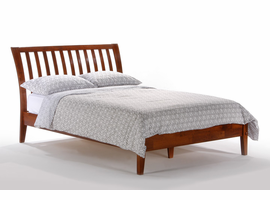 Full Size Platform Bed in Cherry Color - Solid Wood