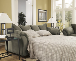 Ashley Furniture Full Sofa Sleeper, Sage