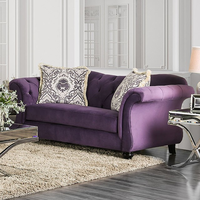 Furniture of America FOA-SM2222-LV Antoinette Traditional Love Seat, Purple