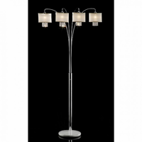 Furniture of America FOA-L99742 Claris Glam Arch Lamp, Hanging Crystal