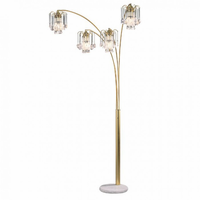 Furniture of America FOA-L99657SG Elouise Traditional Arch Lamp