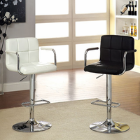 Furniture of America FOA-CM-BR6917BK Corfu Contemporary Bar Stool, Black