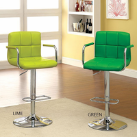 Furniture of America FOA-CM-BR6917LM Corfu Contemporary Bar Stool, Lime