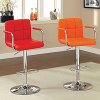 Furniture of America FOA-CM-BR6917RD Corfu Contemporary Bar Stool, Red