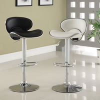 Furniture of America FOA-CM-BR6907BK Kossi Contemporary Bar Stool, Black
