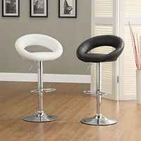 Furniture of America FOA-CM-BR6902BK-2PK Numbi Contemporary Bar Stool, Black (2/ctn)