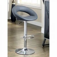 Furniture of America FOA-CM-BR6902GY-2PK Numbi Contemporary Bar Stool, Gray (2/ctn)