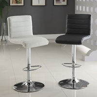 Furniture of America FOA-CM-BR6905BK Passore Contemporary Bar Stool, Black