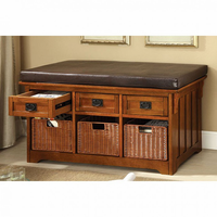 "Furniture of America FOA-CM-BN6305 Hobart Transitional 42"" Storage Bench"
