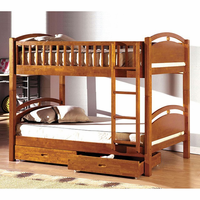 Furniture of America FOA-CM-BK600A-BED California I Cottage Twin/twin Bunk Bed w/ 2 Drawers, Oak Finish