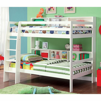 Furniture of America FOA-CM-BK613WH-BED Camino Contemporary Twin/twin Bunk Bed, White Finish