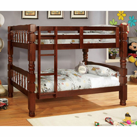 Furniture of America FOA-CM2527CH-BED Carolina Cottage Twin/twin Bunk Bed, Cherry Finish
