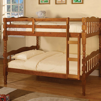 Furniture of America FOA-CM-BK606A-BED Catalina Cottage Twin/twin Bunk Bed, Oak Finish