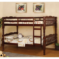 Furniture of America FOA-CM-BK606CH-BED Catalina Cottage Twin/twin Bunk Bed, Cherry Finish