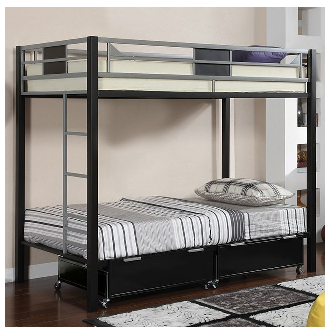 Furniture of america bunk bed clifton for Furniture of america loft bed