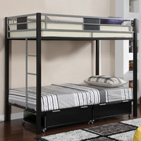 Furniture of America FOA-CM-BK1022 Clifton Contemporary Twin/full Bunk Bed