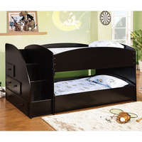 Furniture of America FOA-CM-BK921BK-T-BED Merritt Contemporary Twin/twin Bunk Bed, Black Finish