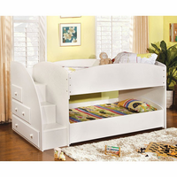 Furniture of America FOA-CM-BK921WH-T-BED Merritt Contemporary Twin/twin Bunk Bed, White Finish