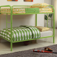 Furniture of America FOA-CM-BK1032-AG Rainbow Contemporary Twin/twin Bunk Bed, Green
