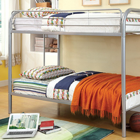 Furniture of America FOA-CM-BK1032-SV Rainbow Contemporary Twin/twin Bunk Bed, Silver