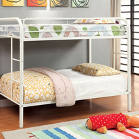 Furniture of America FOA-CM-BK1032-WH Rainbow Contemporary Twin/twin Bunk Bed, White