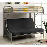 Furniture of America FOA-CM-BK1034-SV-BED Rainbow Contemporary Twin Bed w/ Futon Base, Silver