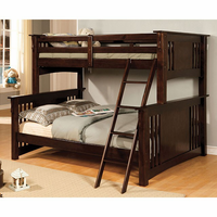 Furniture of America FOA-CM-BK602F-EXP-BED Spring Creek Cottage Twin/full Bunk Bed, Dark Walnut Finish