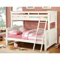 Furniture of America FOA-CM-BK602F-WH-BED Spring Creek Cottage Twin/full Bunk Bed, White Finish