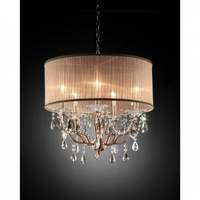Furniture of America FOA-L95126H Cecelia Traditional Ceiling Lamp, Hanging Crystal