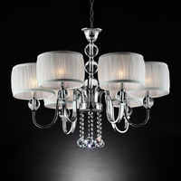 Furniture of America FOA-L95139H Chloe Glam Ceiling Lamp, Hanging Crystal