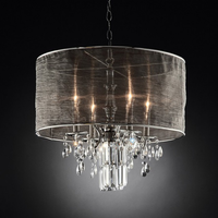Furniture of America FOA-L95127H Gina Glam Ceiling Lamp, Hanging Crystal