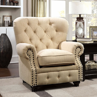 Furniture of America FOA-CM6269IV-CH Stanford Traditional Chair, Ivory