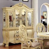 Furniture of America Curio & Hutch Buffet